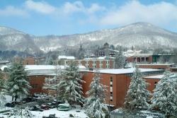 ASU campus after winter snow fall