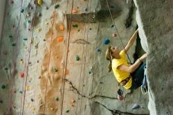 Climbing wall in ASU recreation center