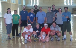 Annual graduate student vs faculty dodge ball battle