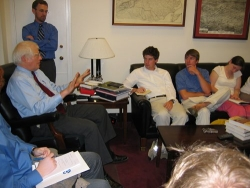 ASU grad students in Washington DC meeting with US Representative David Price