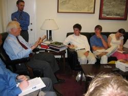 ASU grad students in Washington DC meeting with US Representative David Price